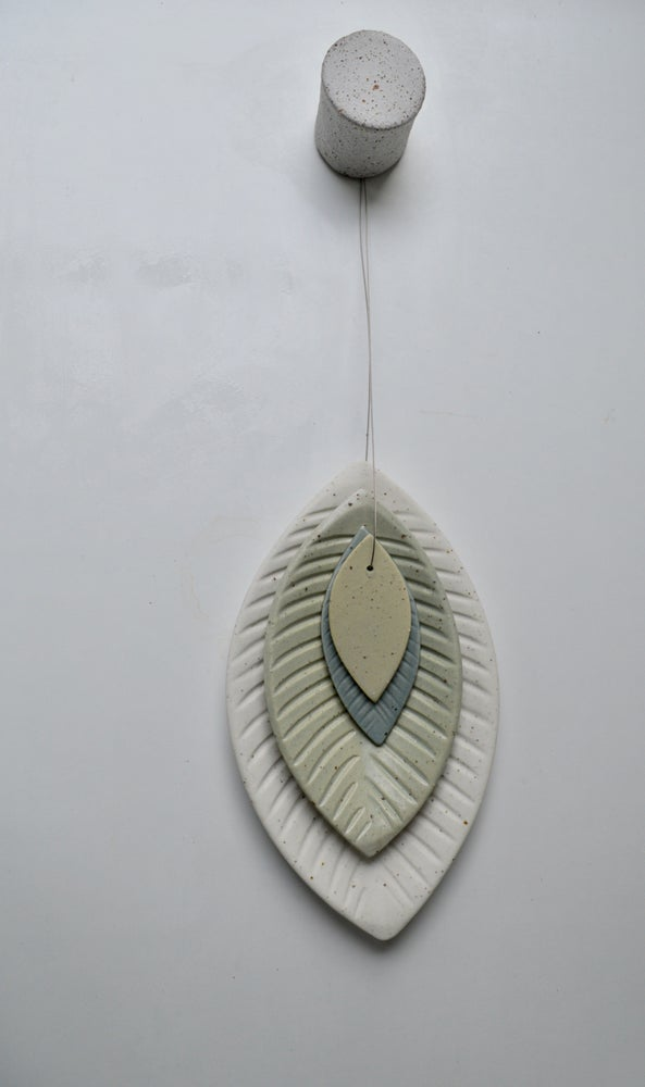 Image of Ceramic Wall Leaf and Ceramic Wall hook