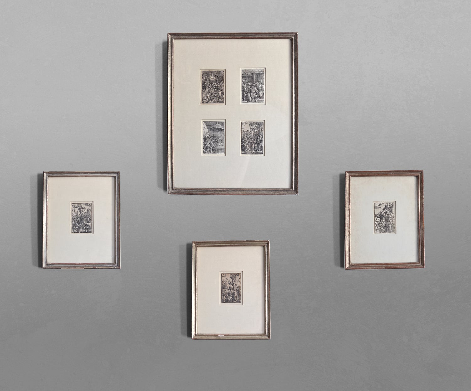 Image of A framed collection of 7 woodcuts from the Fall and Salvation of Mankind by Albrecht Altdorfer