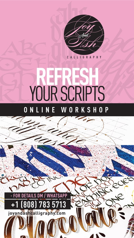Image of ONLINE CALLIGRAPHY REFRESHER SESSIONS - BY THE HOUR