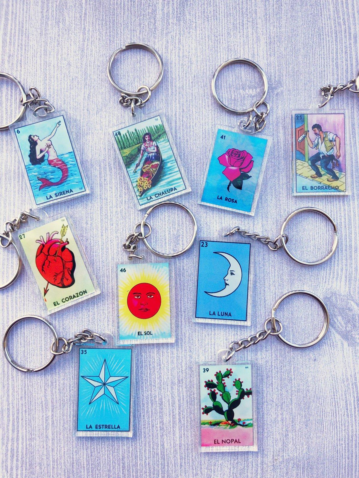 Lotería Acrylic Keychains