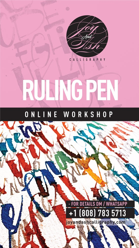 Image of ONLINE WORKSHOP - RULING PEN - FLEXIBLE PAYMENT OPTION*