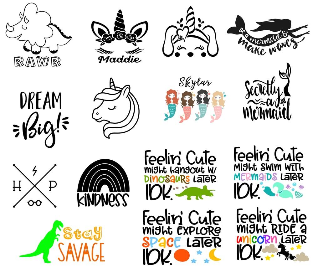 Image of Kids & Teens - Magical Designs - 10x10 Wood Signs
