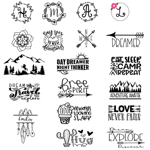 Image of Kids & Teens - Boho/Outdoors/Adventure Designs - 10x10 Wood Signs