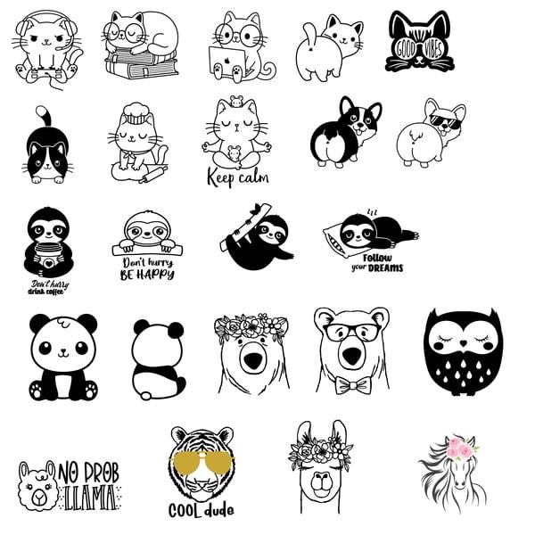 Image of Kids & Teens - Cute Animal Designs - 10x10 Wood Signs