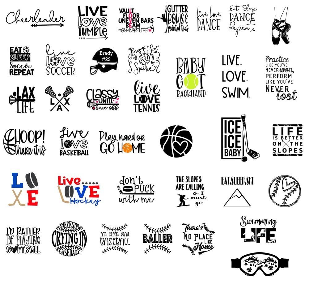 Image of Kids & Teens - Sports Designs - 10x10 Wood Signs