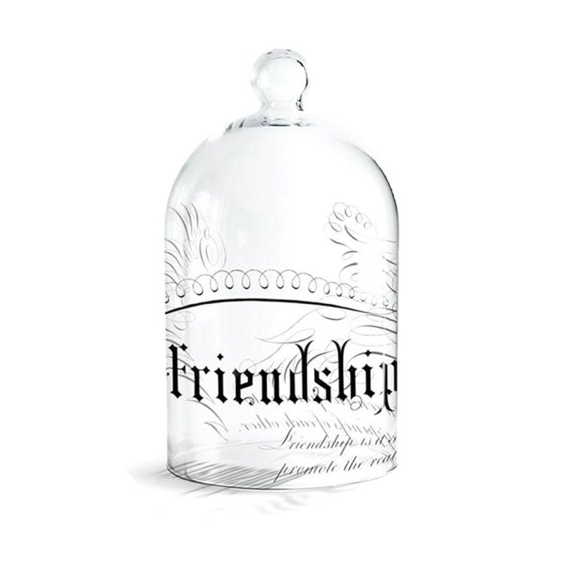 Image of Fringe Studio Large Glass Cloche ~ Friendship Design