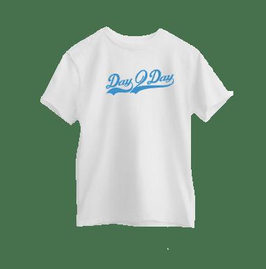 White/Blue Signature Logo Tee