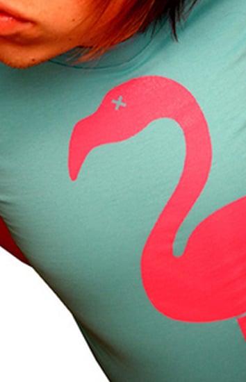 Image of High Heeled Flamingo (Aqua/Hot Pink)