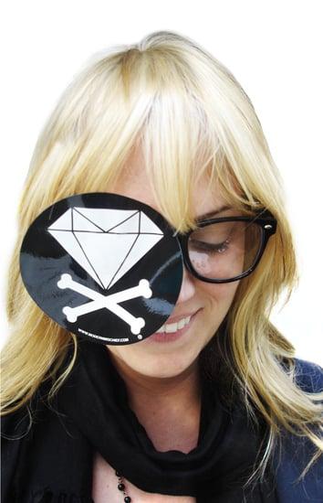 Image of Diamond & Crossbones B/W Sticker