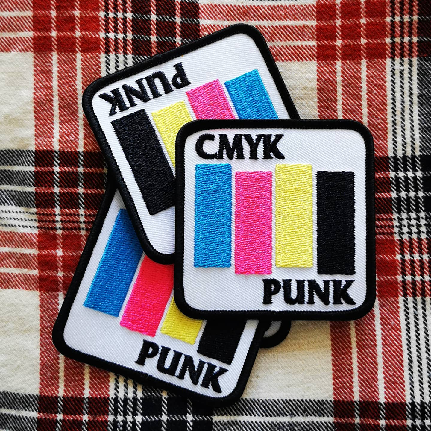 Gzy Ex Silesia - CMYK PUNK - Embroidered patch