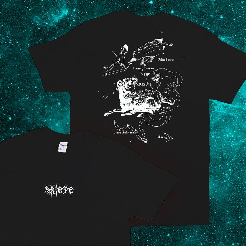 Image of Ariete: Costellazioni T-Shirt (nera)