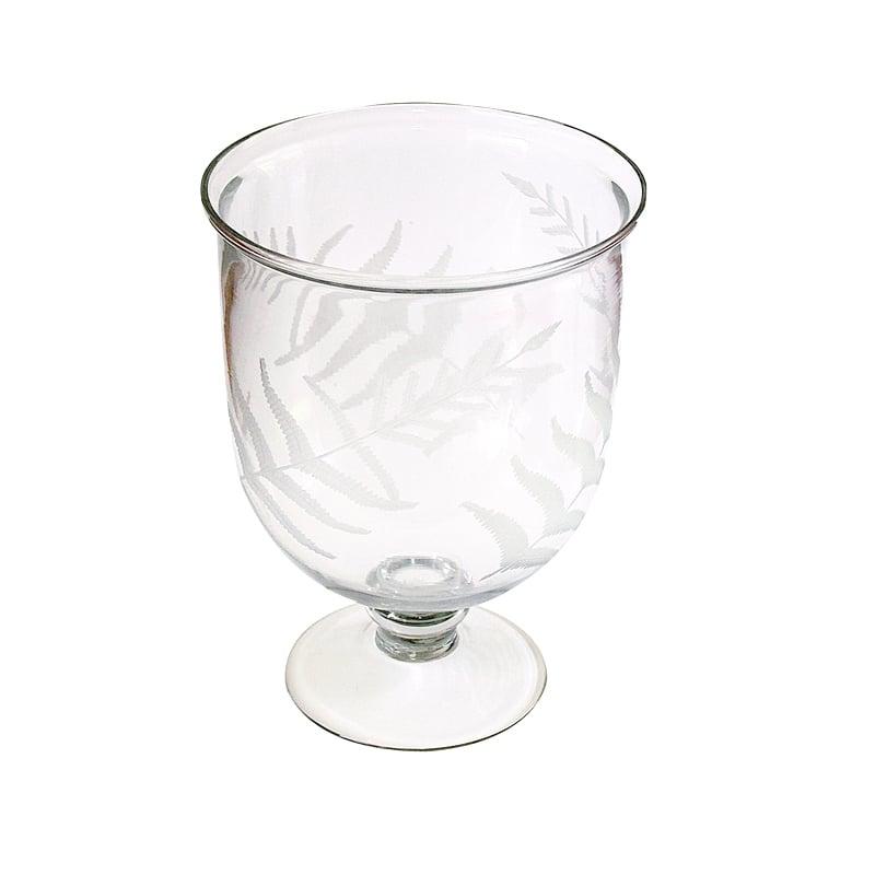Image of Glass Vase ~ Fern Etching