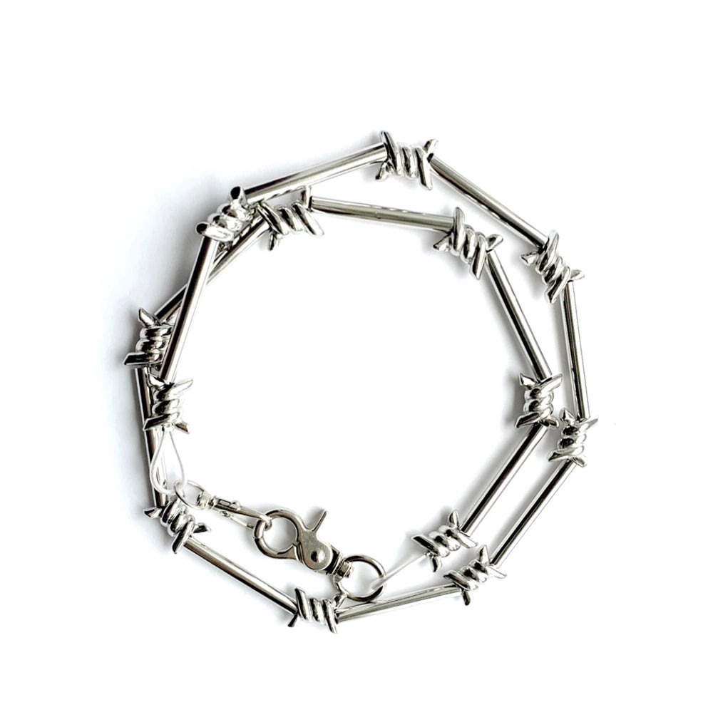 Image of No Trespassing Chunky Barbed Wire Necklace Choker