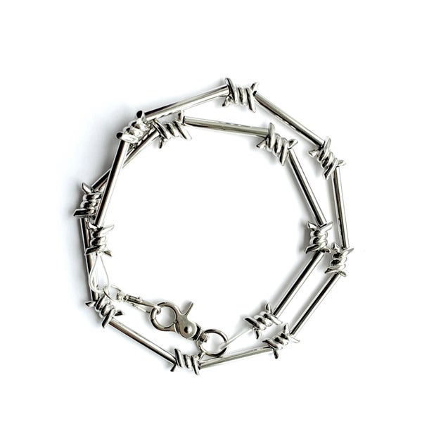Image of No Tresspassing Chunky Barbed Wire Necklace Choker