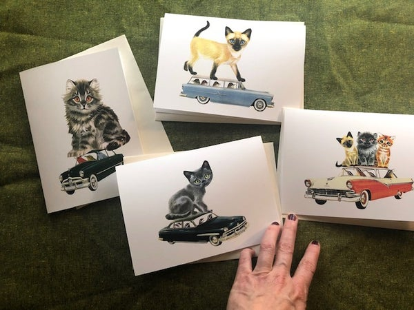 Image of Kitten Caboodle greeting card set.