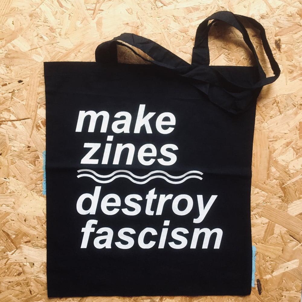 Image of Make Zines Destroy Fascism tote bag