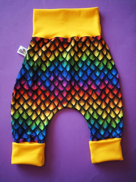 Image of Pantalon évolutif écailles multicolores de dragon