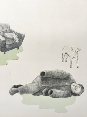 Image of Drawing/collage - Supervised afternoon nap