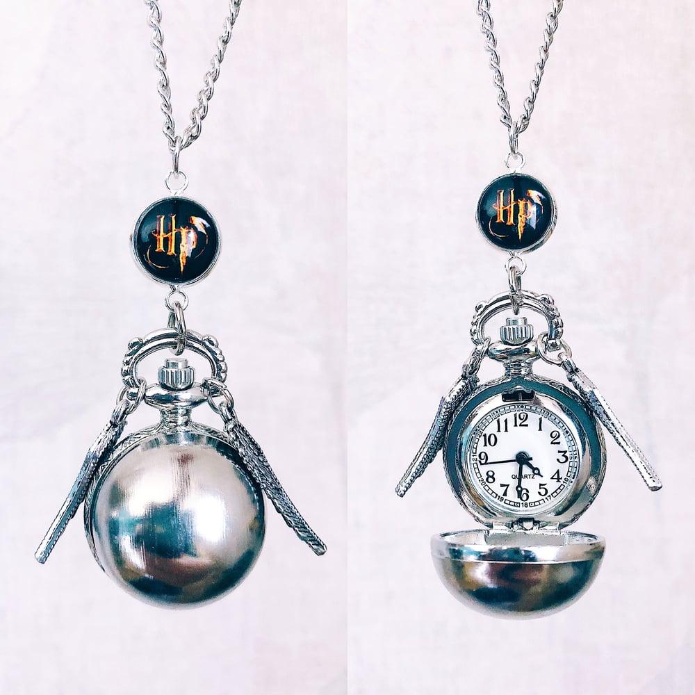 Image of Montre Vif d'Or Harry Potter argentée