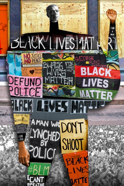 Image of Plate No.412:  Black Lives Matter.