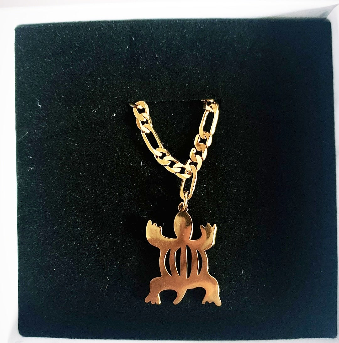 Image of Crocodile Adinkra Pendant Bracelet