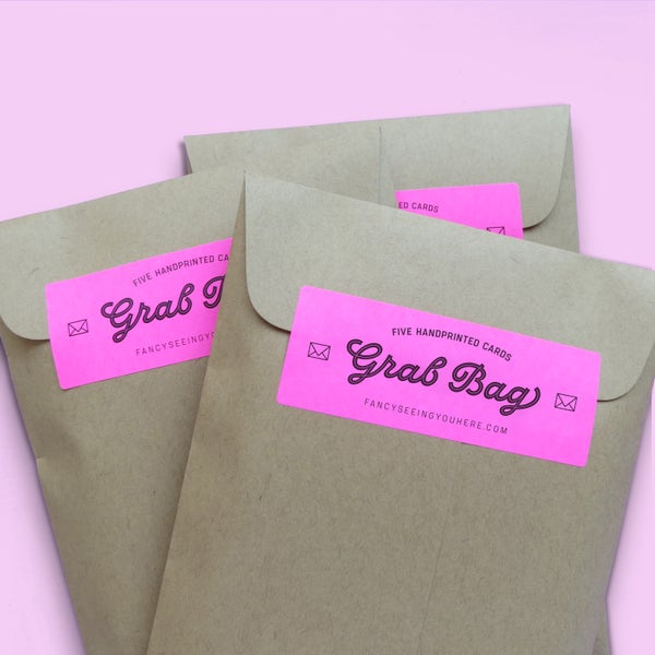 Image of GRAB BAG - 5 cards - slightly imperfect or discontinued designs - card deal