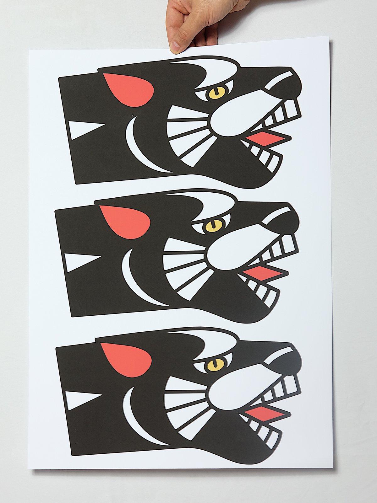 Image of THREE PANTHERS  - PRINT