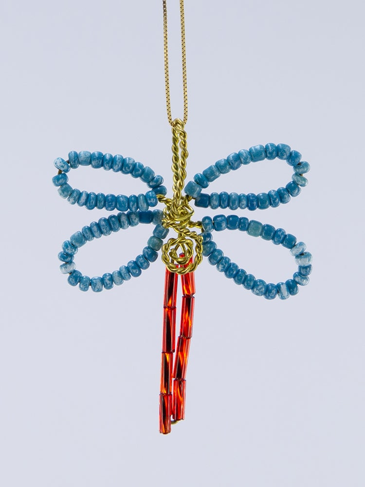 Image of Beaded Dragon Fly Pendant