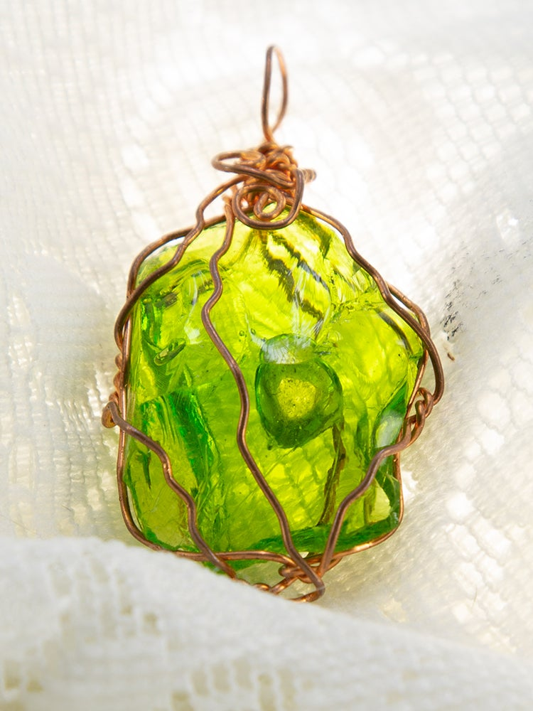 Image of Green Gold and Copper Andara Pendant