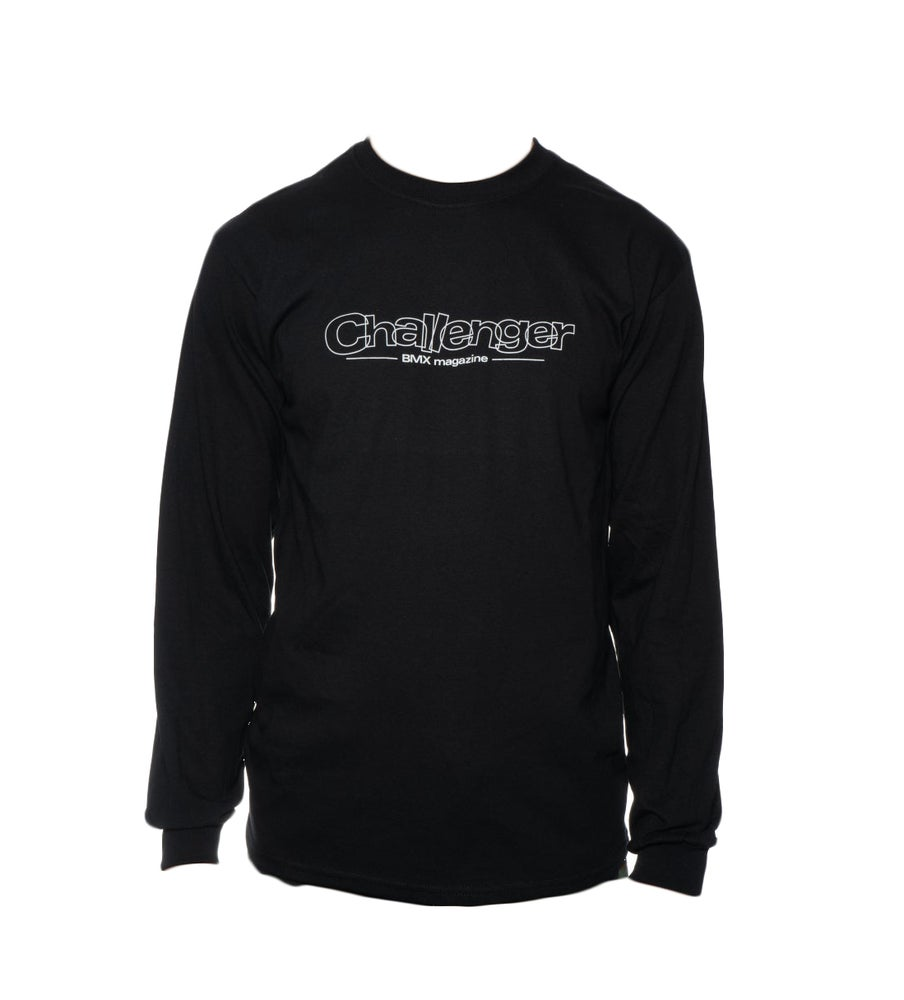 Image of Challenger Logo Long Sleeve T-Shirt - Black
