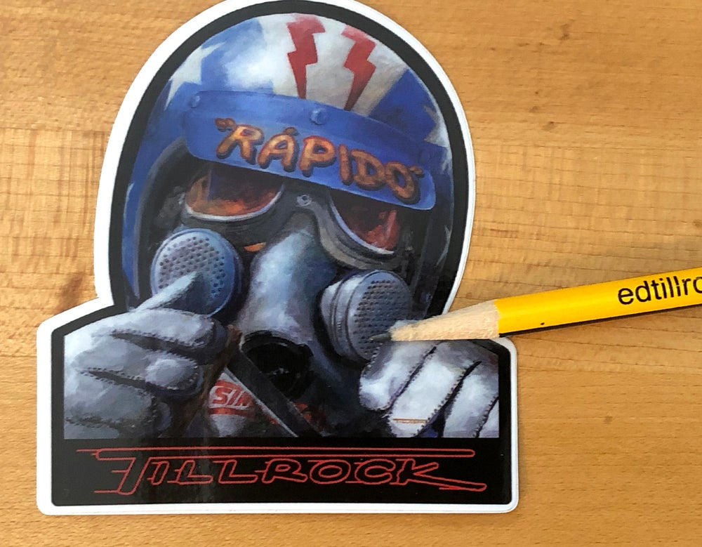 "Image of ""Rapido""  Die Cut Sticker #9"