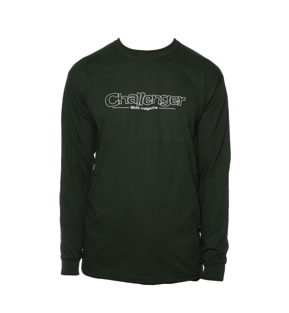Image of Challenger Logo Long Sleeve T-Shirt - Green