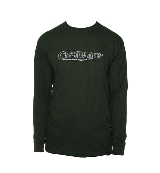 Image of Challenger Logo Long Sleeve T-Shirt - Green