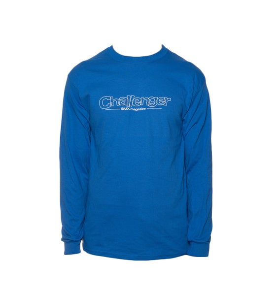 Image of Challenger Logo Long Sleeve T-Shirt - Blue