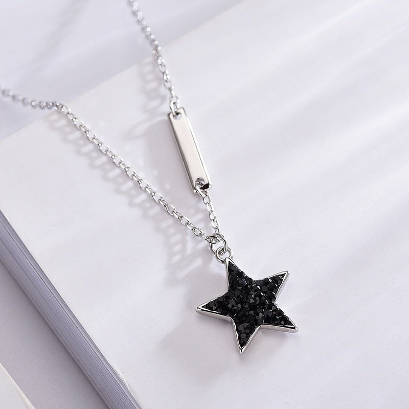 'Blackstar' Necklace (925 Silver)