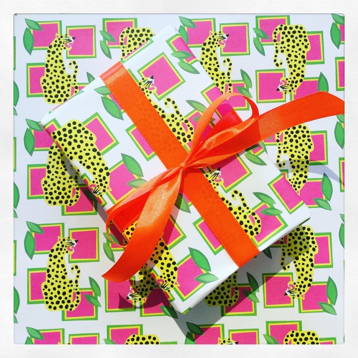 Image of Abstract Leopard Gift Wrap