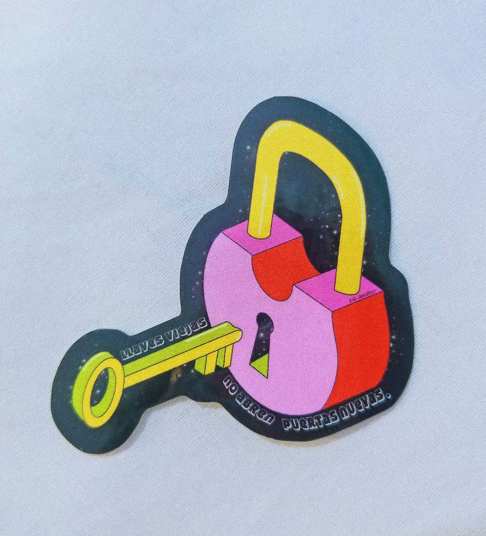 Image of Key and Lock Sticker