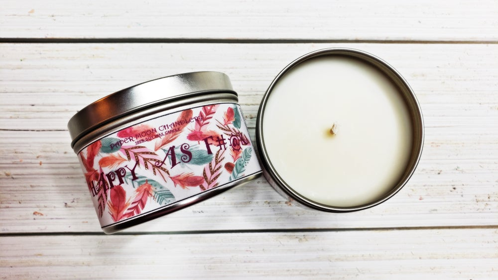 Image of HAPPY AS F#@K HAND POURED SOY CANDLE