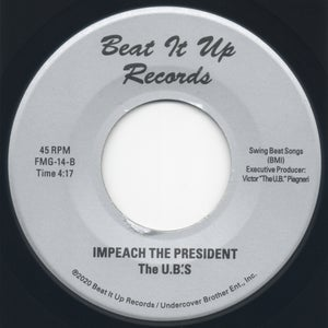 "Image of Uphill Peace Of Mind (UB Inst. Mix) / Impeach The President (UB Inst. Mix) Beat It Up - 7"" Vinyl"