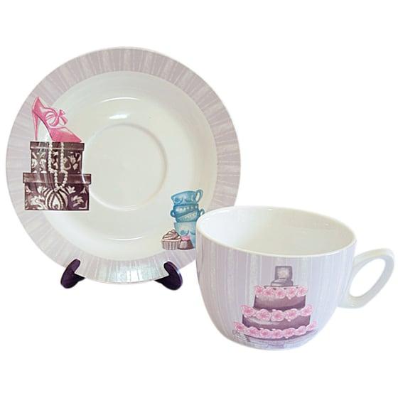 Image of Baci Milano Jumbo Cup & Saucer ~ Two Designs
