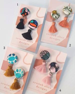 Image of Earrings - Tassels (10 Colours)