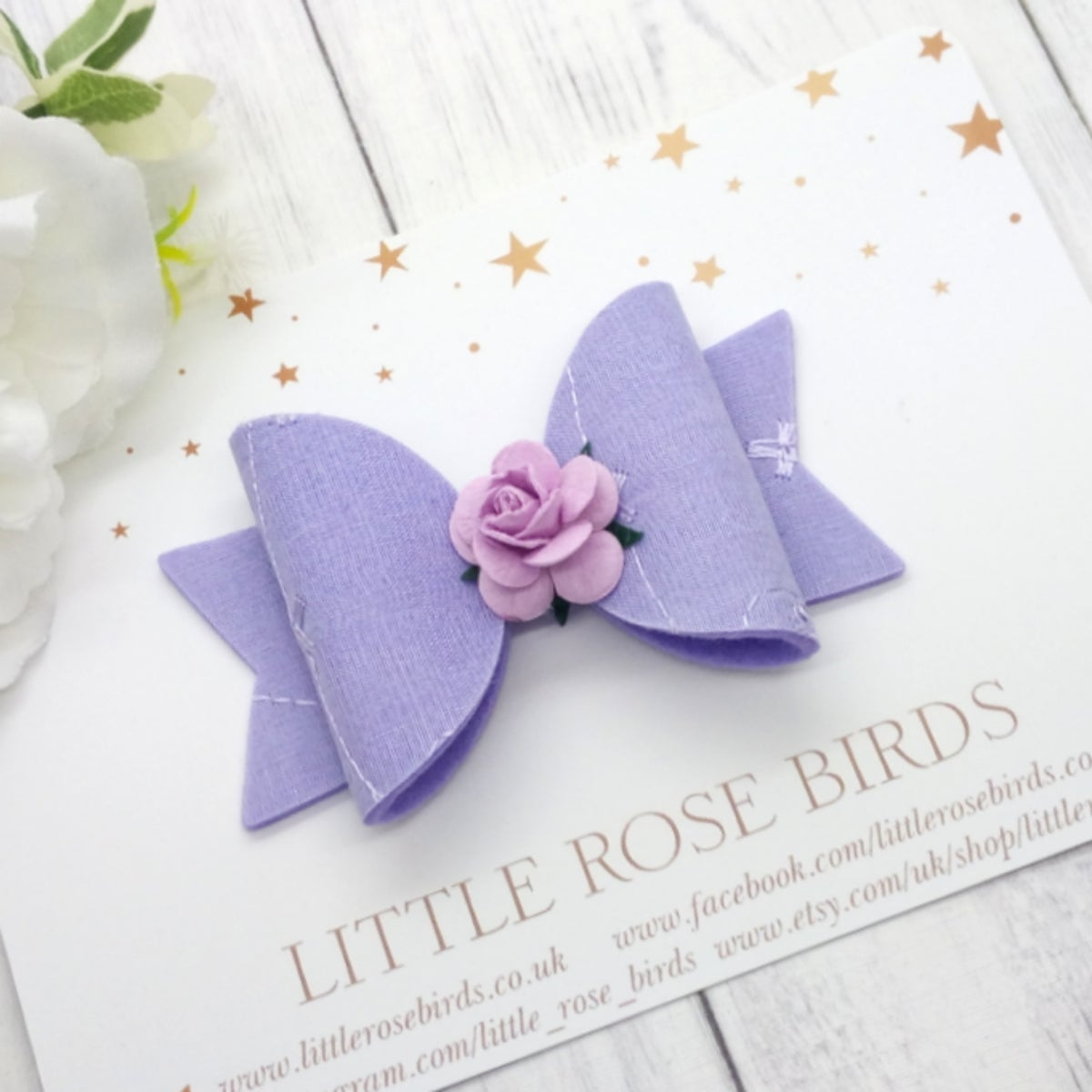 Image of Lilac Rainbow Broderie Anglaise - Choice of Headband or Clip