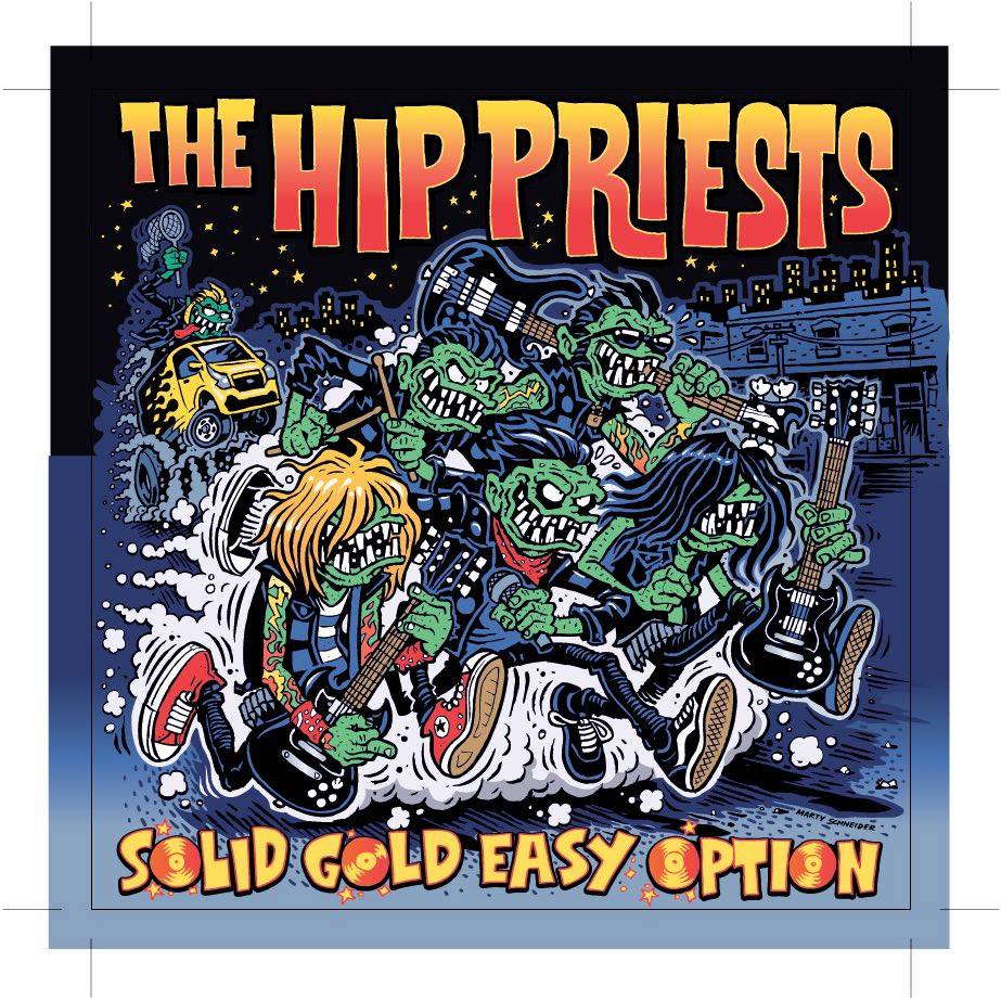 Image of The Hip priests Solid gold easy option pre order WEBSTORE SPLATTER BLUE WAX
