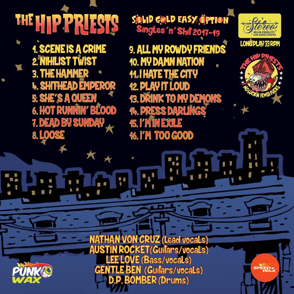 Image of The Hip priests Solid gold easy option pre order WEBSTORE EXCLUSIVE BLUE WAX