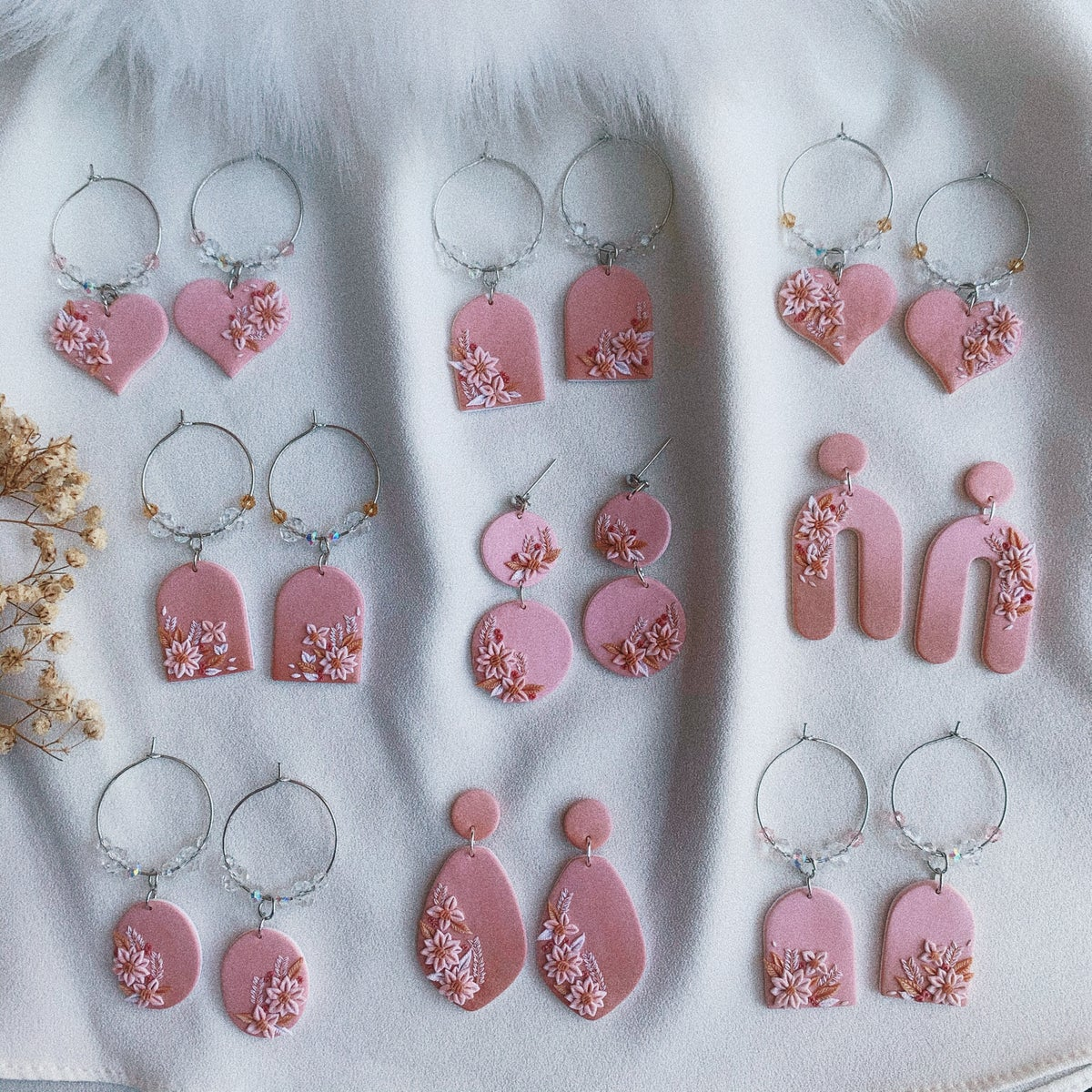 JUST PEACHY — JUICY ARCH DANGLES