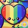 Kawaii Rainbow Heart Sticker