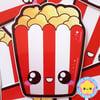 Kawaii Popcorn Sticker
