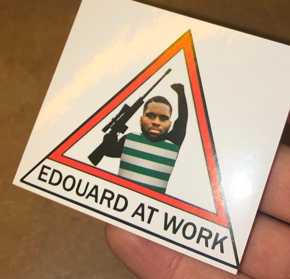 Edouard At Work Stickers