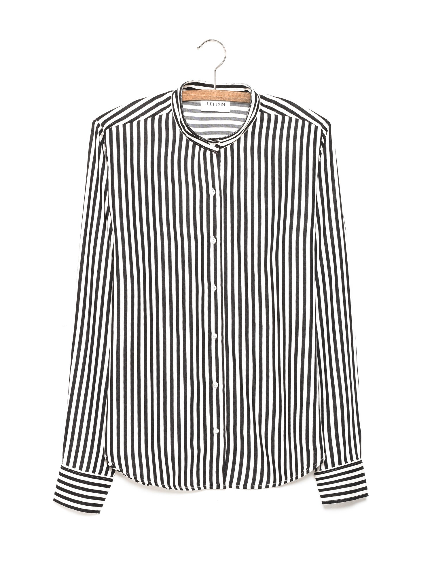 Image of Chemise col mao rayée ANNE 115€ -50%