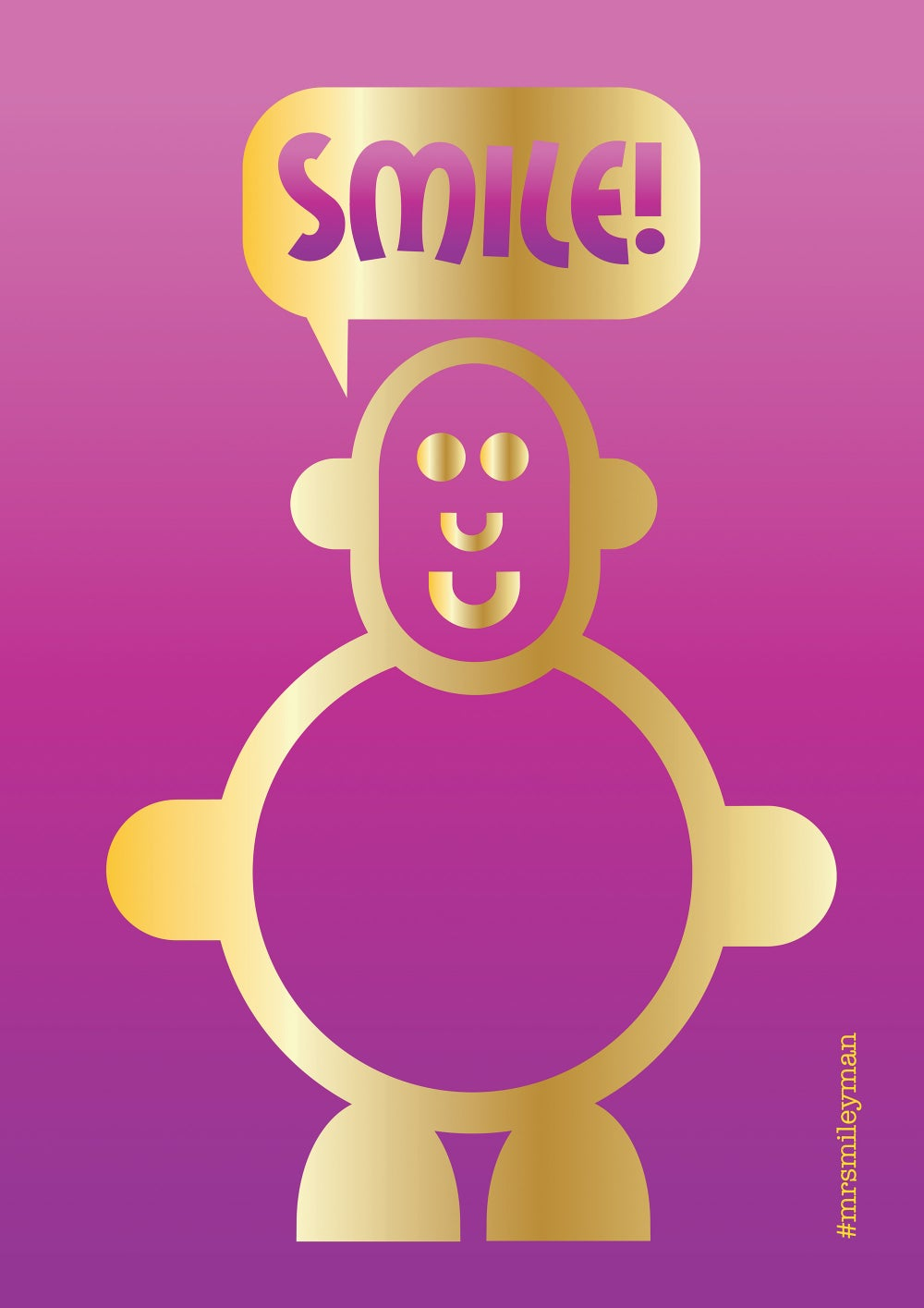 Mr Smileyman Pink and Gold Smile